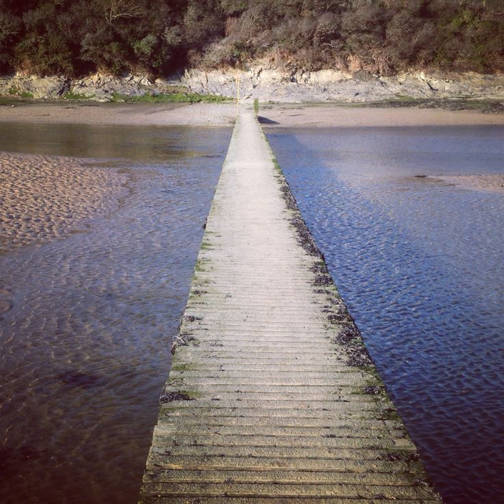 Bridge over The Gannel, Newquay, Cornwall