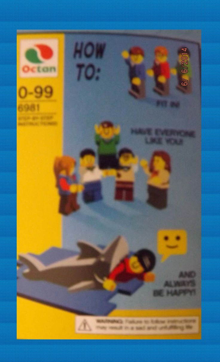 lego movie instructions to fit in
