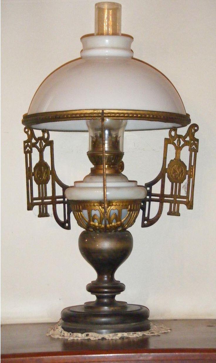 Lamparas antiguas de bronceen pinterest buscar con - Lamparas cristal antiguas ...