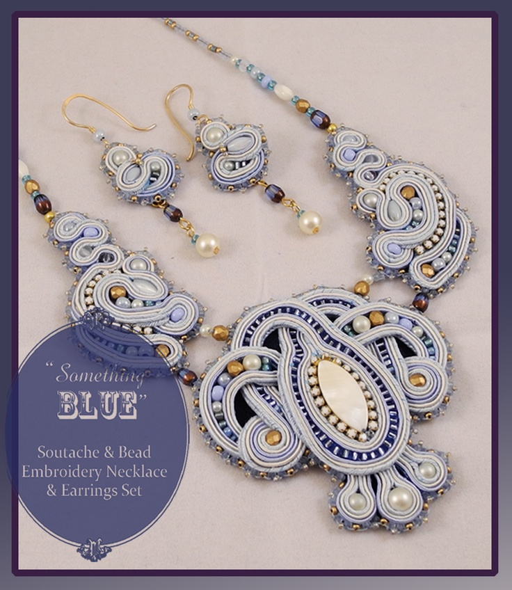 """Once in awhile, somebody will say something perfectly intelligent like, """"You should make a piece of wedding jewelry and weave the soutache to give it sort of a woven-knot look..."""" ...and then I do that..."""