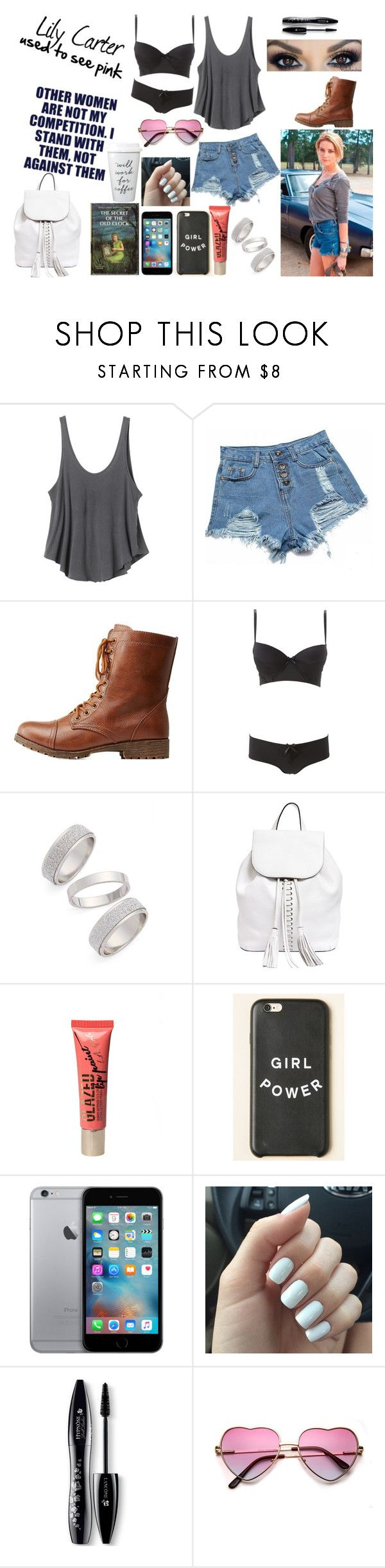 """Scarred Meant Colored [Lily Carter]"" by bentleyswag ❤ liked on Polyvore featuring RVCA, M.S.P., Bamboo, Charlotte Russe, Topshop, Rebecca Minkoff, Lancôme, OC, amberheard and originalcharacter"
