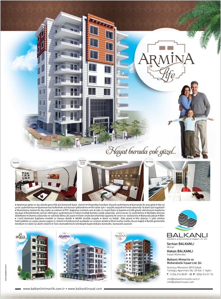 balkanlı mimarlık armina life projesi için hazırlanan kurumsal reklam tasarımı