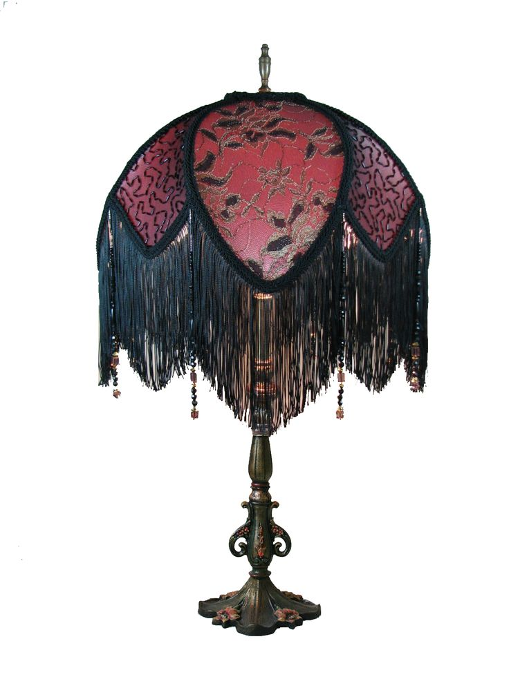 Victorian Lamp Fringe Beaded Fringe Discount Glass