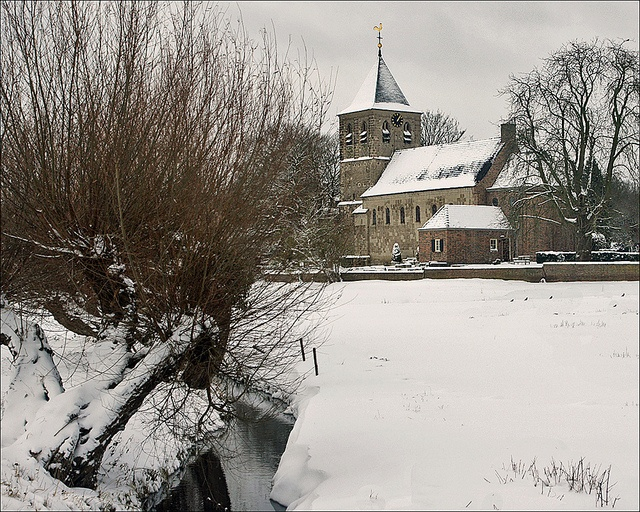 1000 Years Old Church of Oosterbeek in winter scenery  The Old Church, which also be known as Lonsdale Church and Reformed Church, is located at the edge of Oosterbeek (a few km west Arnhem, the Netherlands).   The Old Church when built was at the cent toy's and games for kid's under 10 years old.  allformysurvival.com