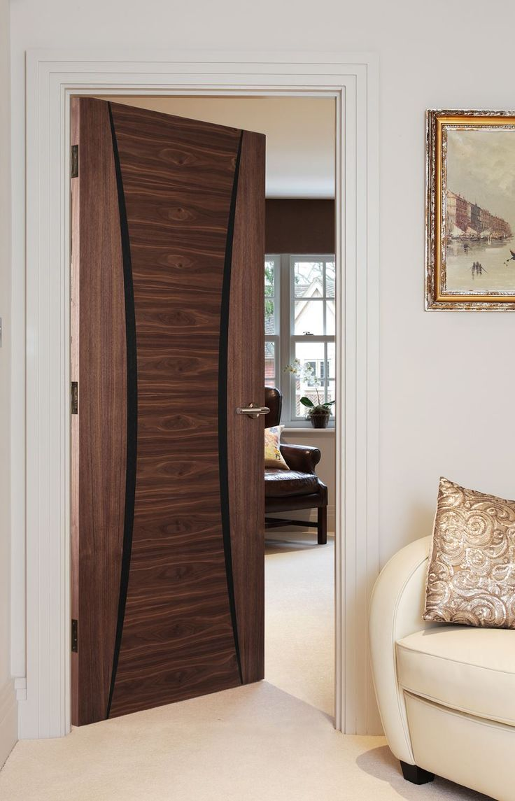 Palma Walnut (FD30) bespoke fire door will bring an exotic touch to your home & 31 best Walnut Doors images on Pinterest | Walnut doors ...