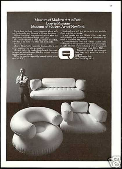 Quasar Khanh Inflatable Furniture Chair Quasar (1970) , turn it into over-stuffed bean bag furniture