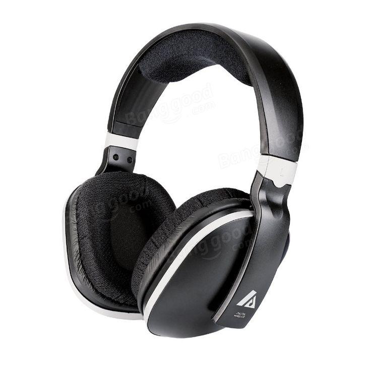 Artiste ADH300 2.4G HiFi Stereo Wireless TV Headphonee With Digital Output Converter For PC TV Sale - Banggood.com