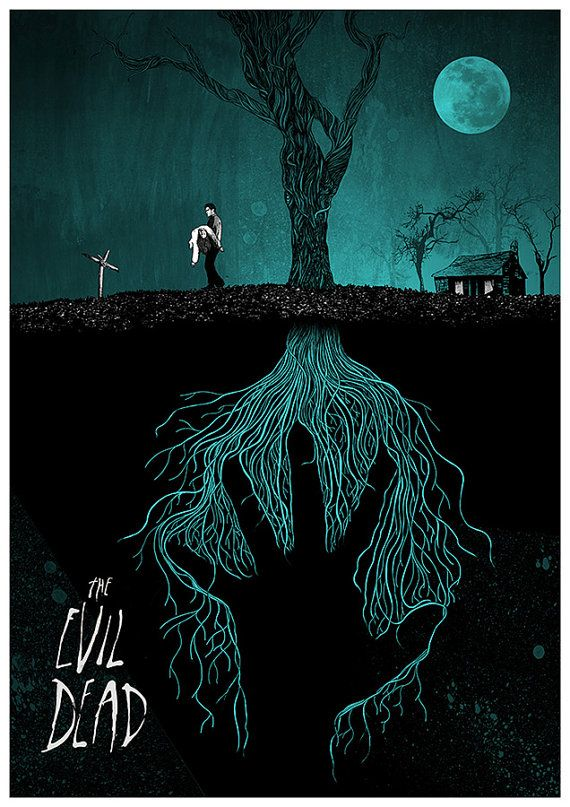 The Evil Dead Giclee print A2 by peterstrainshop on Etsy, £39.00
