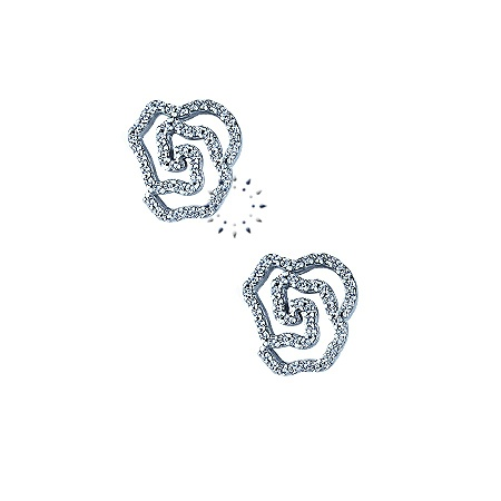 Σκουλαρίκια 14K Λευκόχρυσο με Ζιργκόν FaCaDoro 293€  http://www.kosmima.gr/index.php?manufacturers_id=10