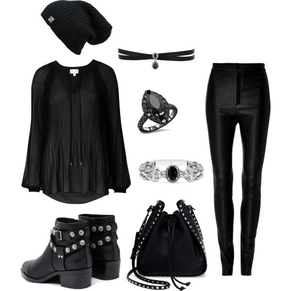 Untitled #3 by taurahell on Polyvore featuring Witchery, Zeynep Arçay, Senso, Valentino, Fallon and Effy Jewelry
