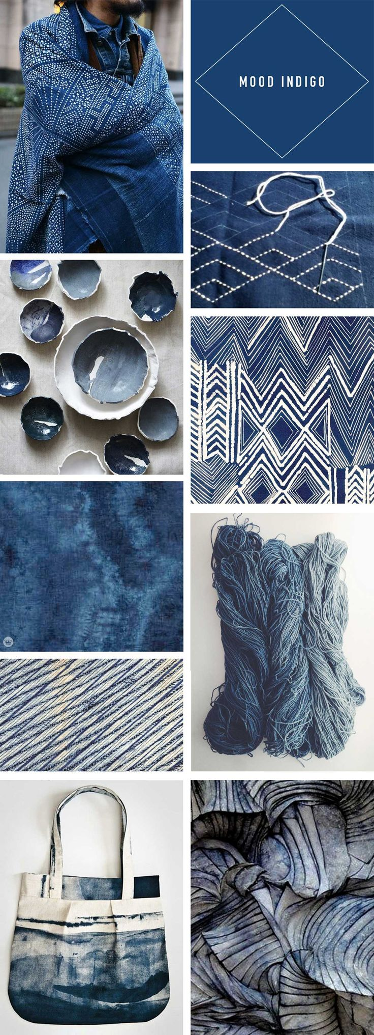 Trend Story: Going deep with indigo - Think.Make.Share.                                                                                                                                                      More