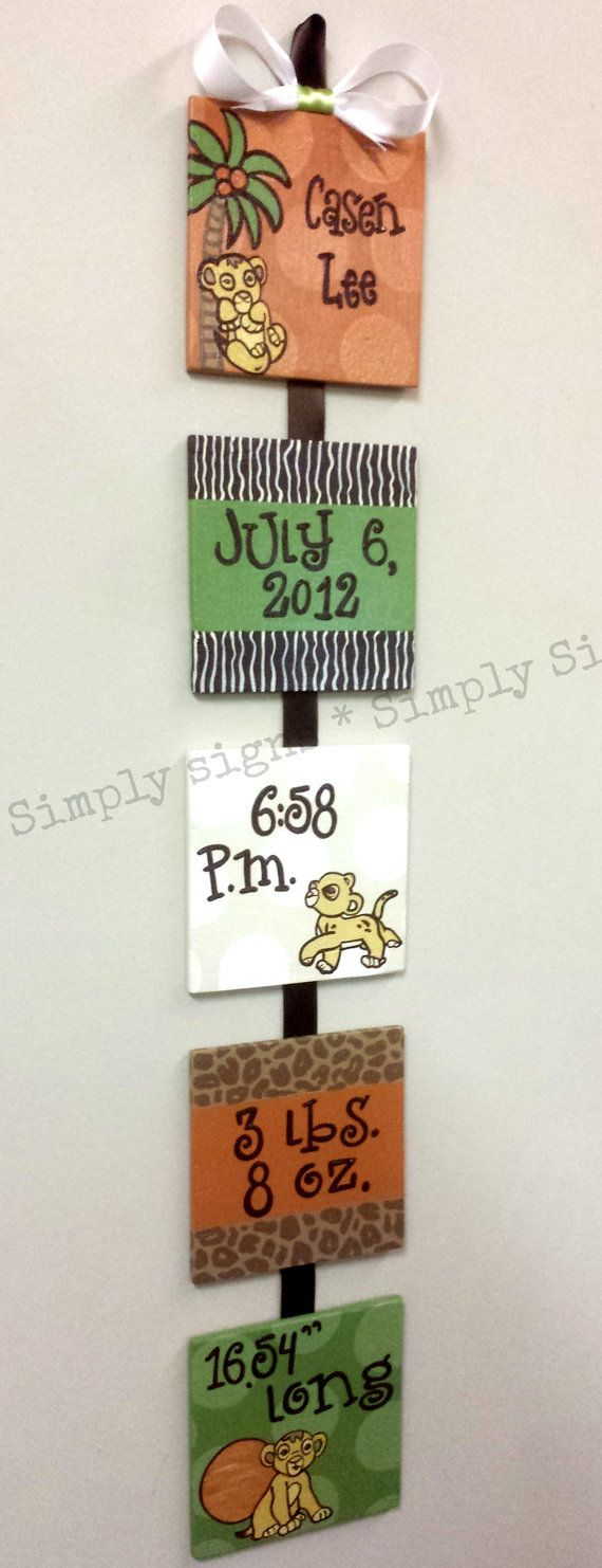 Disney Kids Line Lion King Custom Birth by SimplySignsByJess