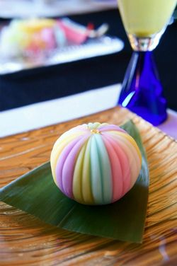 Japanese Wagashi Cake, 5 Color Temari Ball|和菓子
