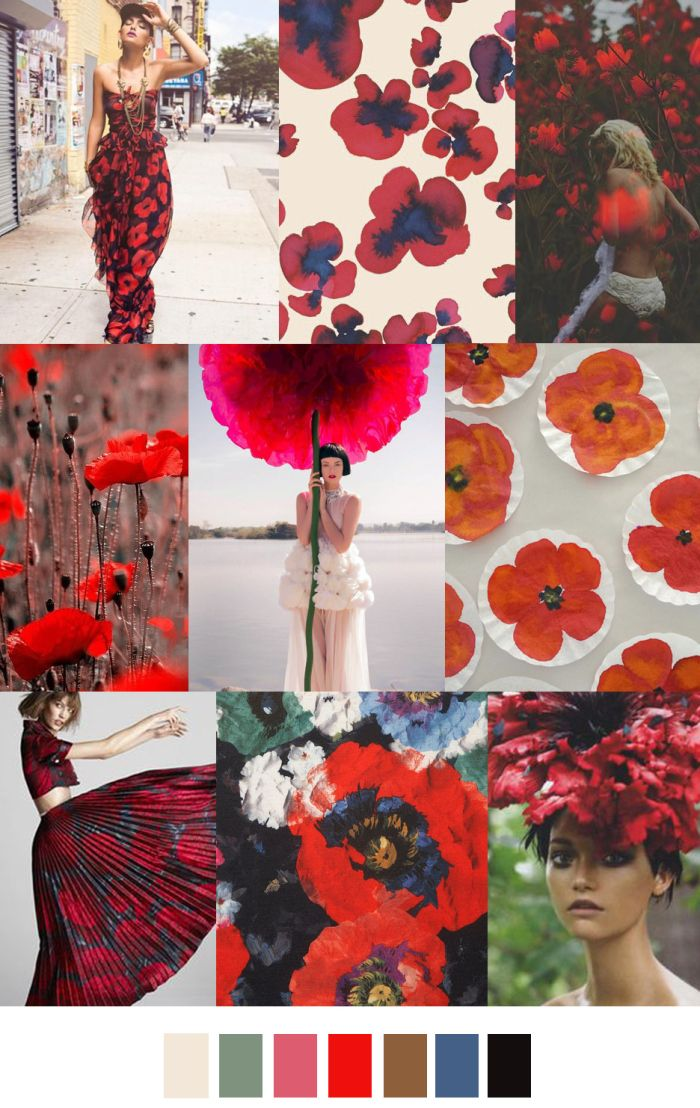 TREND #Summer2017 #Strong Flowers Sources@patterncurator  POPPY FIELDS