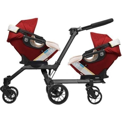 Twins Orbit Baby G3 Double Helix Stroller With 2 Car Seats