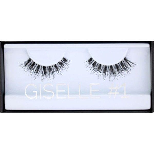 HUDA BEAUTY Huda Beauty Giselle Classic Lashes #1 ($14) ❤ liked on Polyvore featuring beauty products, makeup, eye makeup and false eyelashes