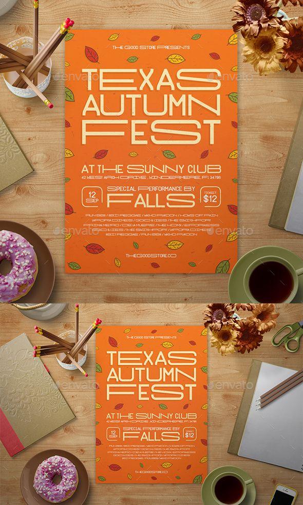 Fall Music Festival Flyer #Music, #Fall, #Flyer, #Festival Print