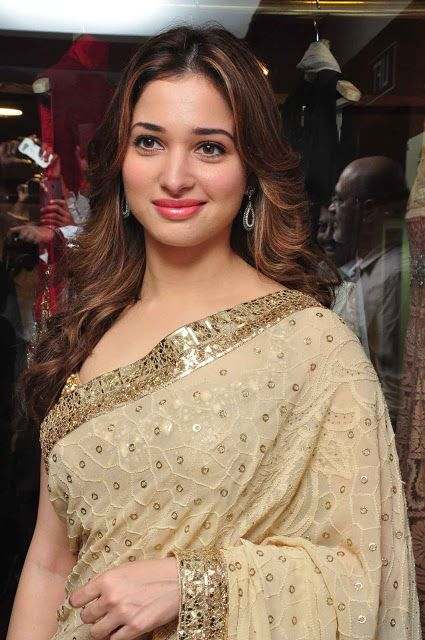celebstills: Tamannaah Bhatia In Saree At The Launch Of Big Shopping Mall in Hyderabad