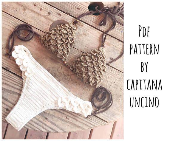 PDF-file for Crochet PATTERN Ariella Mermaid Crochet Bikini