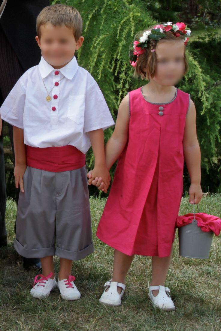 Cortège Joséphine: fuchsia et gris perle - Cortèges d'été - Cortèges de Garance