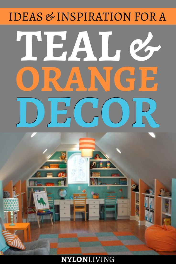 teal and orange decor | Living room orange, Bedroom orange ...