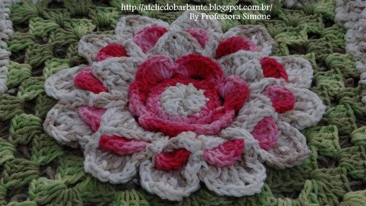 Passo a passo Mega Flor Azaleia criada pela Professora Simone visite a Professora : http://ateliedobarbante.blogspot.com.br/ http://lifebabysapatinhos.blogsp...