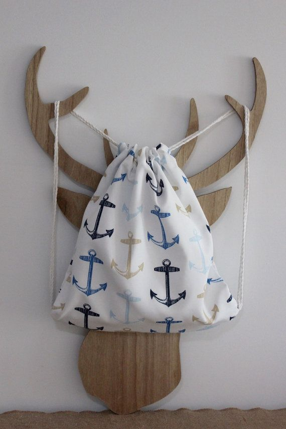Anchors Away Kids Swimming Bag by PuddleducklaneAgain on Etsy
