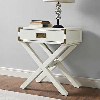 Parker White Side Table