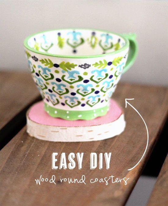 Easy DIY: Wood Round Coasters