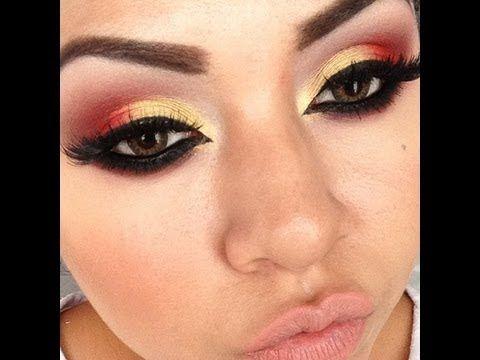 Maquillaje Folklorico (peticion: turqueza, fushia, amarillo) - YouTube