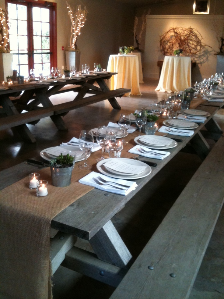 Farmstead Private Dining Room Quot The Barn Quot Set Up For A