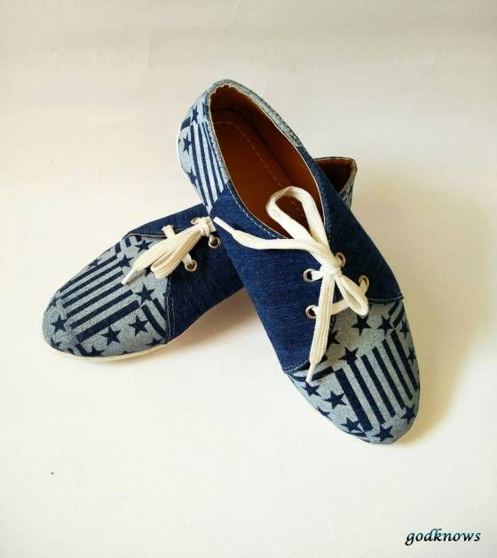 Shopo.in : Buy Women's Starry Denim Type Shoes online at best price in Bangalore, India