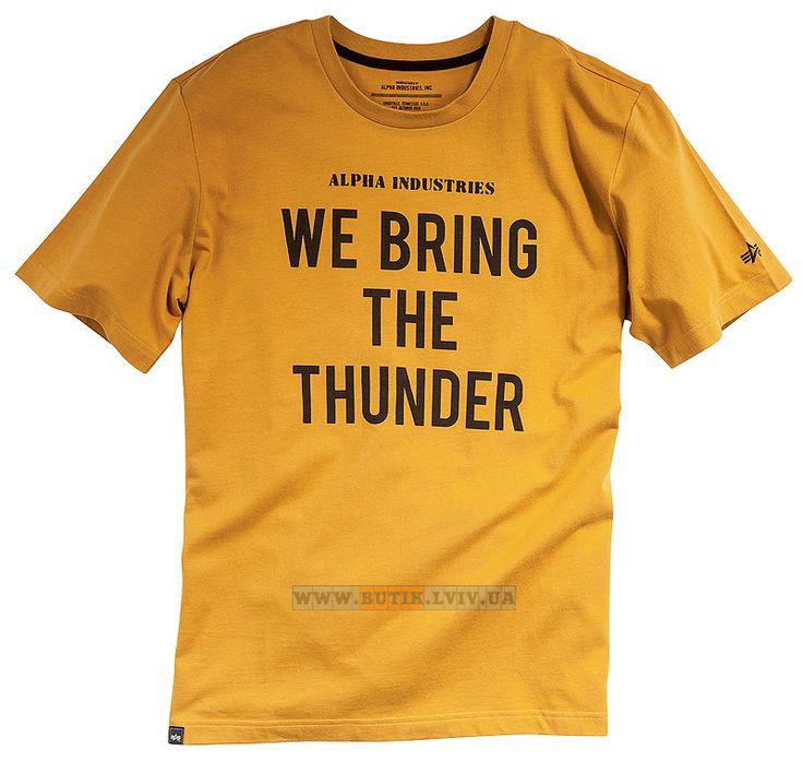 Футболка Thunder Tee Alpha Industries (Tumbleweed)  Розміри: під замовлення  Ціна: 24 $