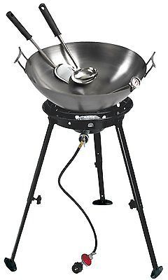 Barbecues Grills and Smokers 151621: 22 Carbon Steel Wok Kit With Big Kahuna Burner 1-Burner Propane Stove -> BUY IT NOW ONLY: $177.99 on eBay!