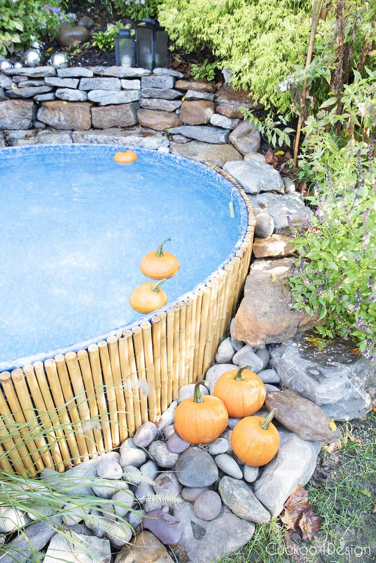 Fall stock tank pool update and floating pumpkins stock