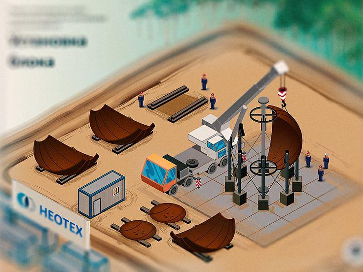 Завершил рисование технических иллюстрации. На 14 картинках описано,как делают резервуары для хранения газа в промышленных масштабах.  Проект призводства работ на монтаж шарового резервуара емкостью 600 м3. Одна из 14 иллюстрации описывающих полностью проект производства.  P.S. Вот таким образом газ сохраняют в холодных русских условиях P.S.S А вот как это выглядит в процессе. ССылка на анимацию: https://plus.google.com/104316723142821095373/posts/j8MchKauUA2