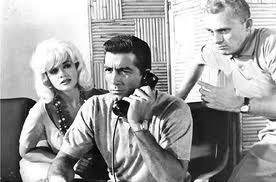 "FRANK GORSHIN, JAYNE MANSFIELD and RAY DANTON in ""THE GEORGE RAFT STORY"" (1961)."