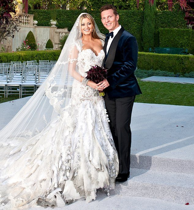 Husband and wife: Holly Valance tied the knot with her billionaire fiance Nick Candy in Beverly Hills on Saturday