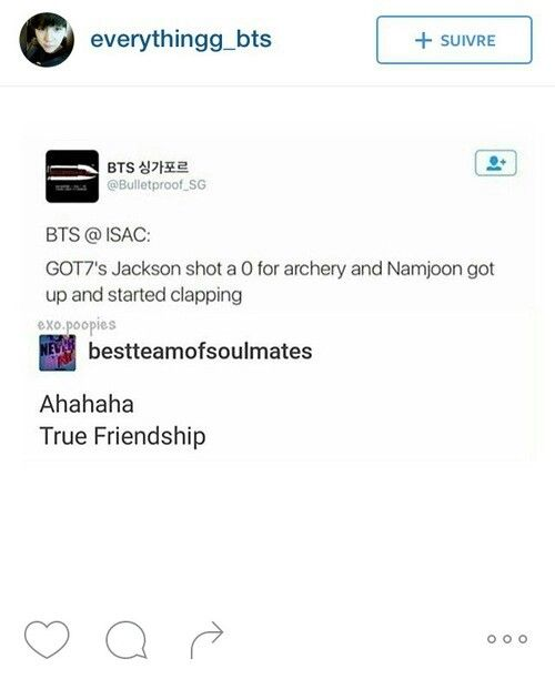 Namjoon and Jackson's friendship is the best XD>>> so true xD Can someone please tell me where I can get a friendship like that ?