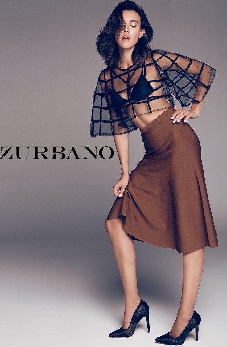 Zurbano FW15 lookbook session | Castania - Elegant dark brown cow hair pumps