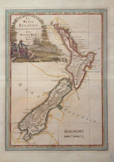 New Zealand by Captain James Cook - new reprint of antique map