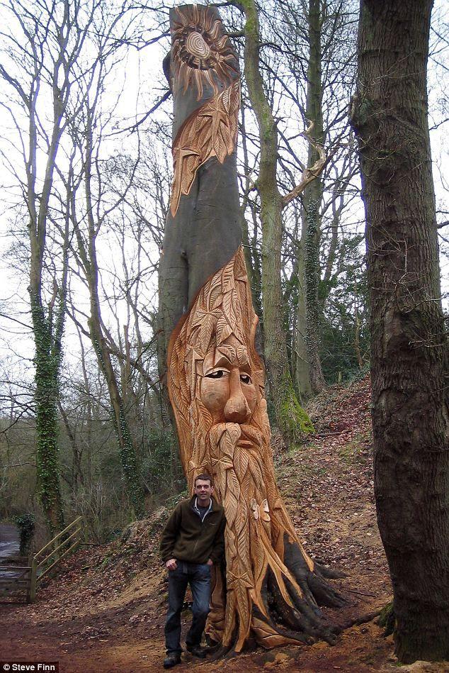 Best dead tree sculpture images on pinterest
