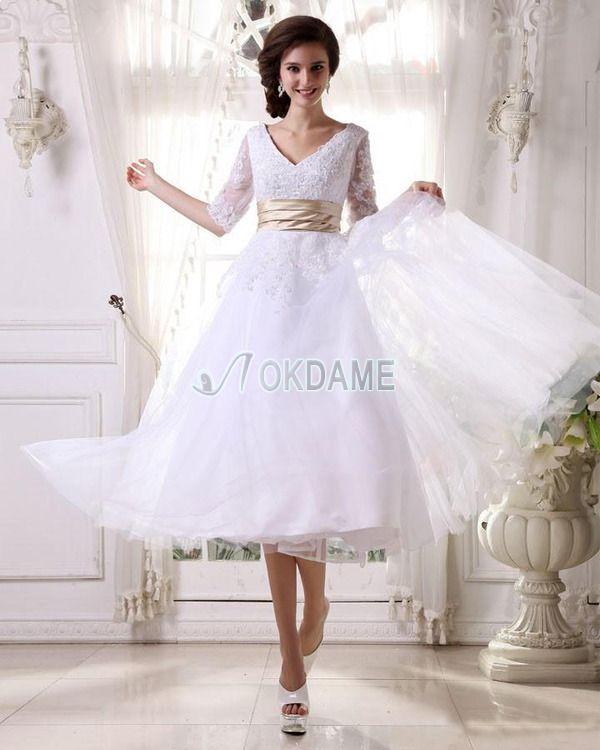 233 best Brautkleider teilen images on Pinterest   Short wedding ...