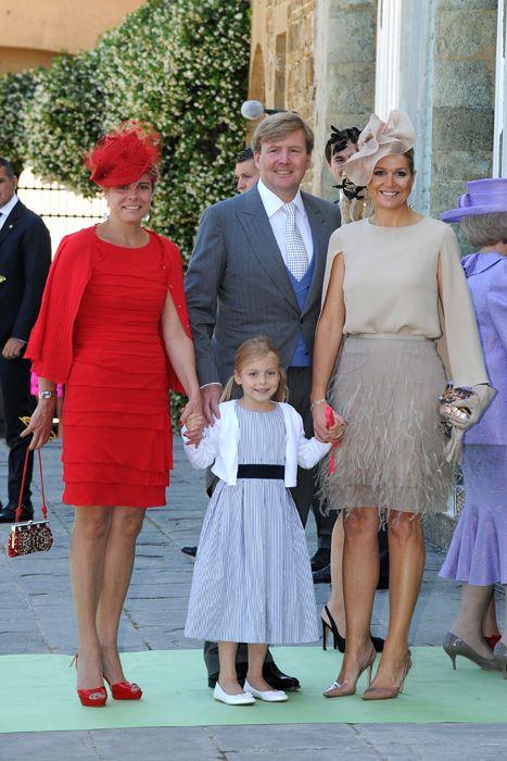 Dutch royals rally round Queen Beatrix to enjoy sun-kissed family wedding - Princess Laurentien, Princess Maxima and Crown Prince Wilhelm.