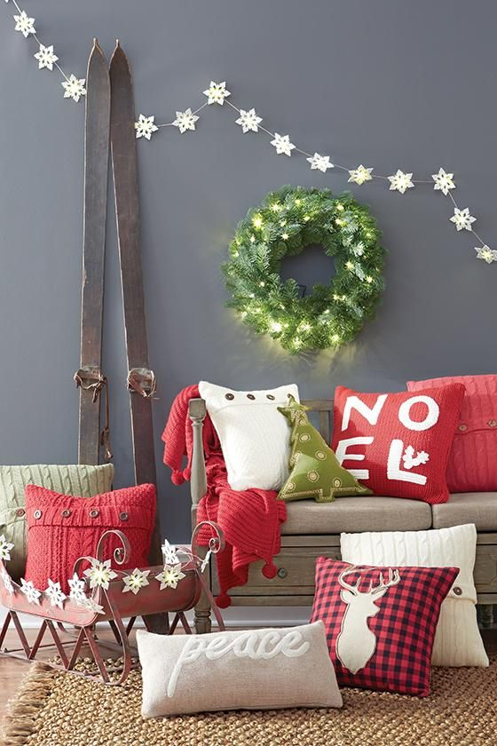 314 best holiday images on pinterest christmas deco christmas nothing better than a comfy pillow on the couch plus holiday pillows are an instant and easy way to make a room look festive for the season solutioingenieria Image collections