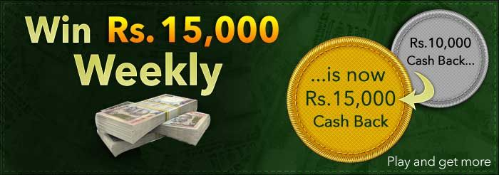 YOU PLAY, WE PAY ! Everyweek Top 5 players will win a share of Rs 15,000 CASHBACK. For more info >>> https://www.classicrummy.com/online-rummy-promotions/rummy-cash-back-offer?link_name=CR-12