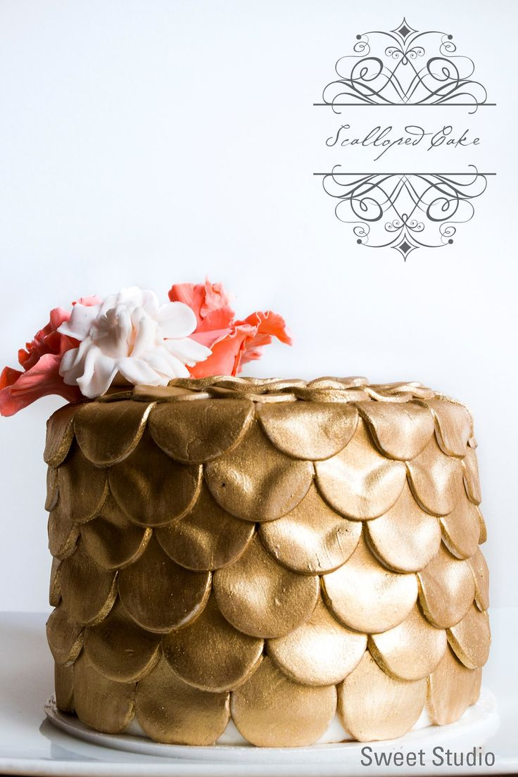 Scalloped Fondant Cake. Beautiful Cake.