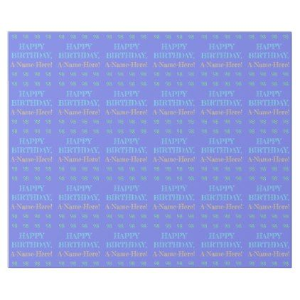 Personalized 98th Birthday Wrapping Paper  $14.95  by AponxDesigns  - cyo customize personalize diy idea