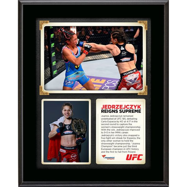 Joanna Jedrzejczyk Ultimate Fighting Championship Fanatics Authentic 10.5'' x 13'' UFC 185 New Women's Strawweight Champion Sublimated Plaque - $29.99