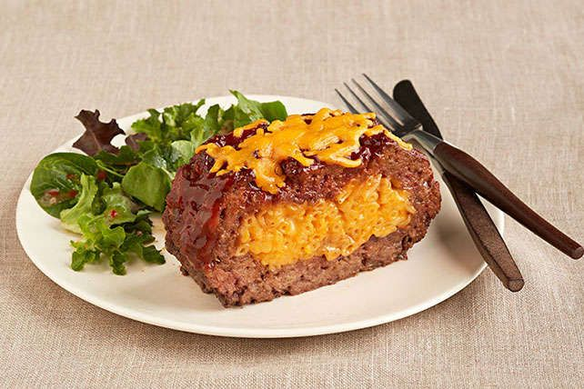 Tender, juicy meatloaf stuffed with macaroni and cheese? Oh, yes—and making it is even easier than it might sound.